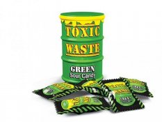 Toxic Waste Green Sour Candy 42g